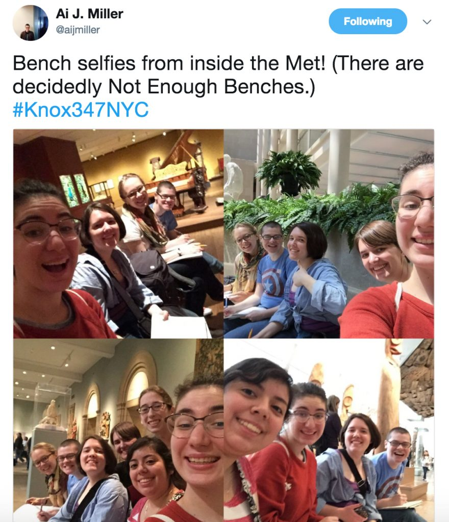 Ai's tweet from the Met