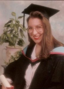 Photograph of the author at graduation