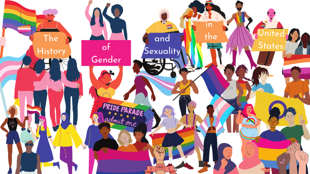 A header for my syllabus showing a variety of people with trans and pride flags.