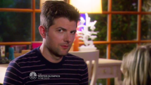 Ben Wyatt staring into the camera
